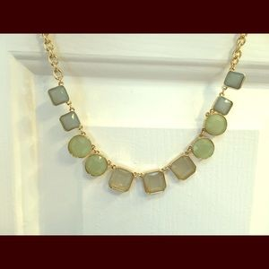 Ann Taylor Loft blue and green gem necklace